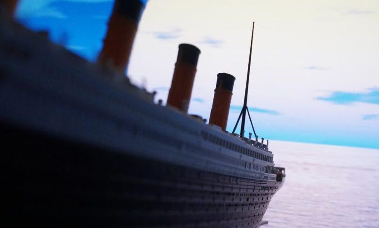 """Se desploma un """"iceberg"""" del Museo del Titanic en Estados Unidos"""