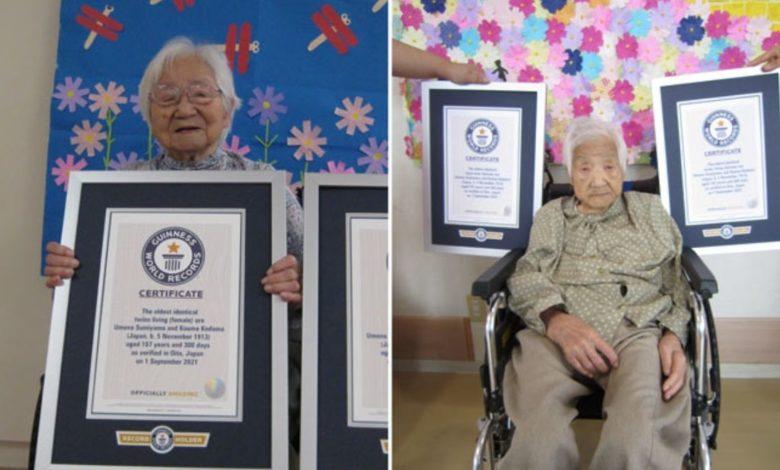 Las gemelas más longevas del mundo son de Japón y tienen 107 años