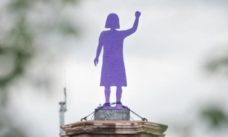 Glorieta de las Mujeres que Luchan, la imagen del movimiento feminista