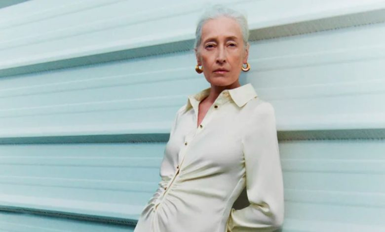 Marie Sophie Wilson, de 57 años, la modelo de Zara para su nueva colección